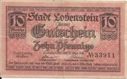 10 Pfennig (Lobenstein) – obverse