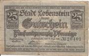 25 Pfennig (Lobenstein) – obverse