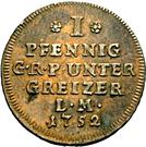 1 Pfennig - Heinrich III – reverse