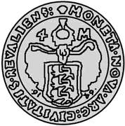 4 Mark - Carl XI (1st shield) – reverse