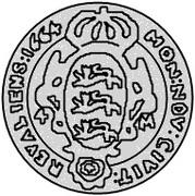 4 Mark - Carl XI (2nd shield) – reverse