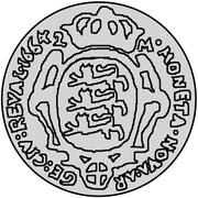 2 Mark - Carl XI (2nd shield) – reverse