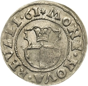 1 Ferding - Eric XIV (Type 1; with crown) – reverse