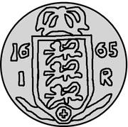 1 Rundstück - Carl XI – reverse