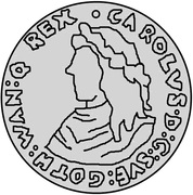 1 Mark - Carl XI – obverse