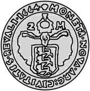 2 Mark - Carl XI (1st shield) – reverse