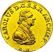 1 Ducat - Karl Theodor von Dalberg – obverse
