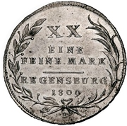 ½ Thaler - Karl Theodor von Dalberg (1/2 Konventionstaler) – reverse