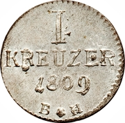 1 Kreuzer - Karl Theodor – reverse