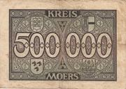 500,000 Mark (Kreis Moers) – reverse