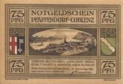 75 Pfennig (Pfaffendorf) – obverse