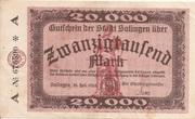 20,000 Mark (Solingen) – obverse