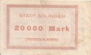 20,000 Mark (Solingen) – reverse