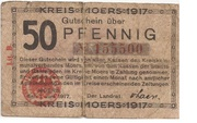 50 Pfennig (Kreis Moers) – obverse