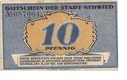 10 Pfennig (Neuwied) – obverse