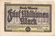 5,000,000 Mark (Kreis Moers) – obverse