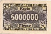 5,000,000 Mark (Kreis Moers) – reverse