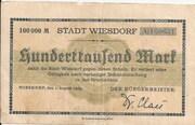 100,000 Mark (Wiesdorf) – obverse