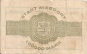 100,000 Mark (Wiesdorf) – reverse
