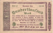 100,000 Mark (Kreis Ahrweiler) – reverse