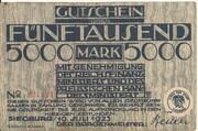 5,000 Mark (Siegburg) – obverse