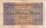 1,000,000 Mark (Landesbank der Rheinprovinz) – obverse