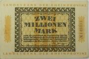 2,000,000 Mark (Landesbank der Rheinprovinz) – obverse