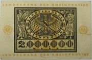 2,000,000 Mark (Landesbank der Rheinprovinz) – reverse