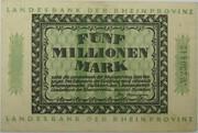5,000,000 Mark (Landesbank der Rheinprovinz) – obverse