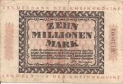 10,000,000 Mark (Landesbank der Rheinprovinz) – obverse