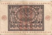 10,000,000 Mark (Landesbank der Rheinprovinz) – reverse