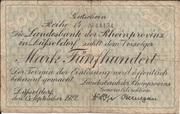 500 Mark (Landesbank der Rheinprovinz) – obverse