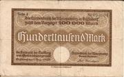100,000 Mark (Landesbank der Rheinprovinz) – obverse