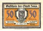 50 Pfennig (Zons) – obverse