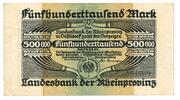 500,000 Mark (Landesbank der Rheinprovinz) – obverse