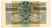 500,000 Mark (Landesbank der Rheinprovinz) – reverse