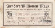 100,000,000 Mark (Kreis Cochem, Kreis Simmern and Kreis Zell) – obverse