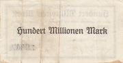 100,000,000 Mark (Kreis Cochem, Kreis Simmern and Kreis Zell) – reverse