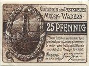 25 Pfennig (Kreis Merzig-Wadern) – obverse