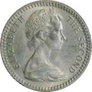 6 Pence / 5 Cents - Elizabeth II (2nd portrait) – obverse