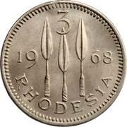3 Pence - Elizabeth II (2nd portrait) – reverse