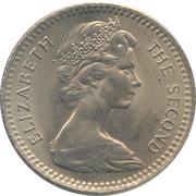 2 Shillings / 20 Cents - Elizabeth II (2nd portrait) – obverse