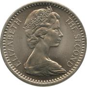 2½ Shillings / 25 Cents - Elizabeth II (2nd portrait) – obverse