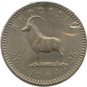 2½ Shillings / 25 Cents - Elizabeth II (2nd portrait) – reverse