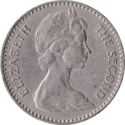 2½ Shillings / 25 Cents - Elizabeth II (2nd portrait) – obverse