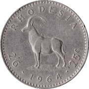 2½ Shillings / 25 Cents - Elizabeth II (2nd portrait) – reverse