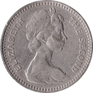 2 Shillings / 20 Cents - Elizabeth II (2nd portrait) – obverse