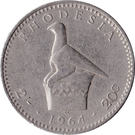 2 Shillings / 20 Cents - Elizabeth II (2nd portrait) – reverse