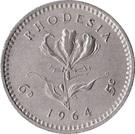 6 Pence / 5 Cents - Elizabeth II (2nd portrait) – reverse