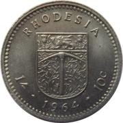 1 Shilling / 10 Cents - Elizabeth II (2nd portrait) – reverse
